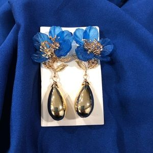 Brand new floral statement earrings